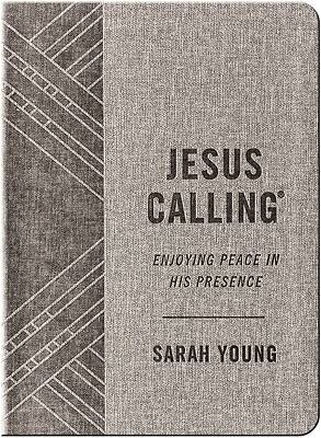 Jesus Calling - Textured Gray Leathersoft