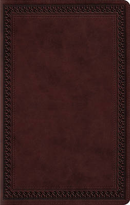 Picture of ESV Large Print Value Thinline Bible (Trutone, Mahogany, Border Design)