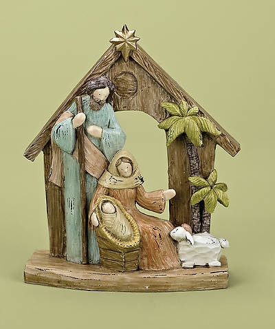 Rustic Woodgrain Holy Family