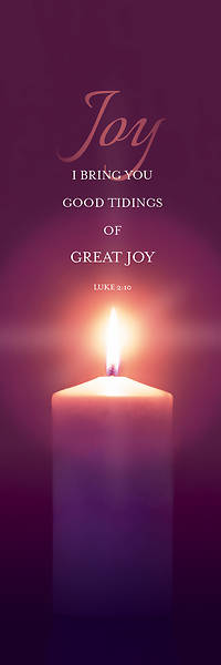 Joy Advent Candle 2 x 6 Banner