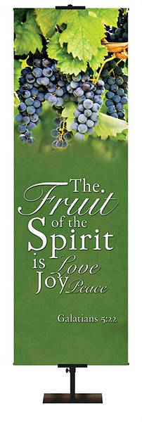 Picture of Love, Joy, Peace Fruit of the Spirit Banner 18'' x 5'
