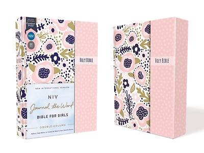 Picture of Niv, Journal the Word Bible for Girls, Double-Column, Hardcover, Pink, Magnetic Closure, Red Letter, Comfort Print