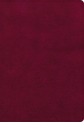 Picture of NASB Super Giant Print Reference Bible, Burgundy Leathertouch