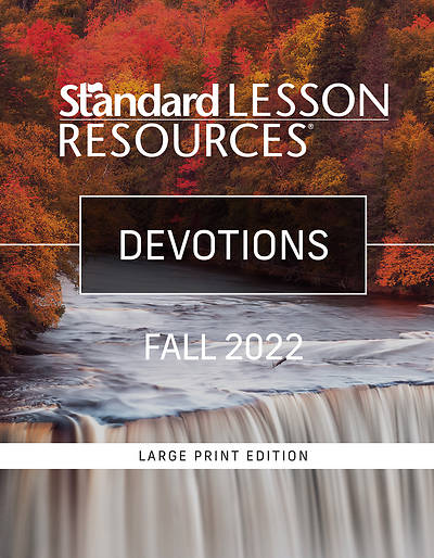 Picture of Standard Lesson Quarterly Adult Devotions Large Print Fall