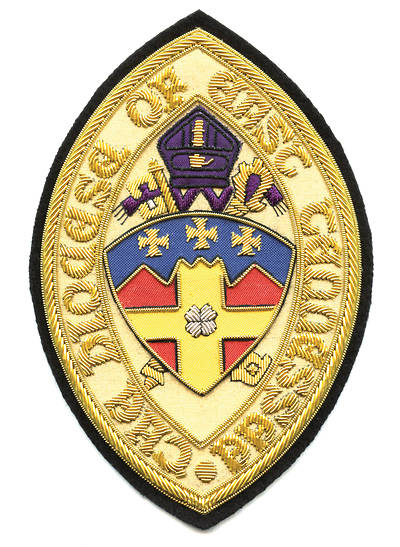 Hand Embroidered Diocesan Seal - Diocese of East Tennessee