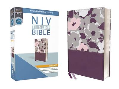 NIV, Thinline Bible, Compact, Imitation Leather, Purple, Red Letter Edition