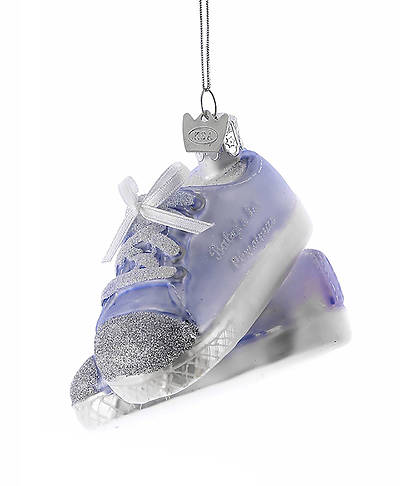 Picture of Baby Sneaker Glass Ornament - Blue