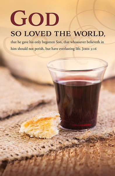 Picture of God So Loved the World Communion Regular Size Bulletin