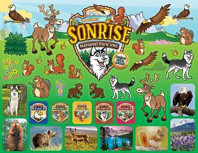 Gospel Light Vacation Bible School 2012 SonRise National Park SonRise Stickers (pkg of 10)