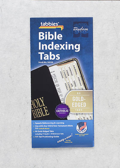 Picture of Bible Tabs Catholic Standard Old New testament Books Gold