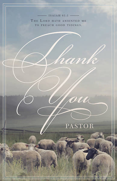 Picture of Thank You Pastor General Regular Size Bulletin