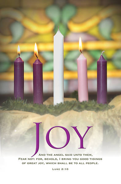 Joy Advent Wreath Regular Size Bulletin