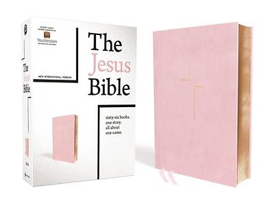 Picture of The Jesus Bible, NIV Edition, Leathersoft Over Board, Pink, Indexed, Comfort Print
