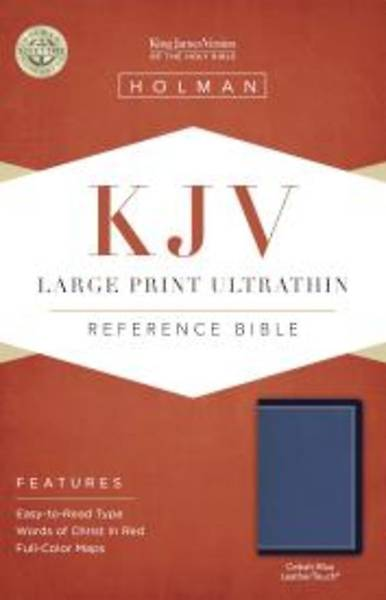 Picture of KJV Large Print Ultrathin Reference Bible, Cobalt Blue Leathertouch