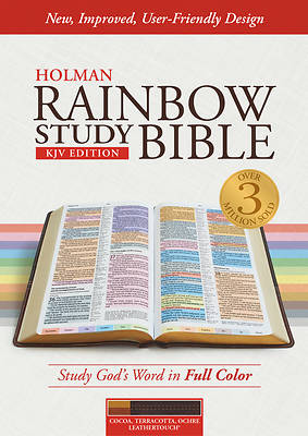 Picture of KJV Rainbow Study Bible, Cocoa/Terra Cotta/Ochre Leathertouch