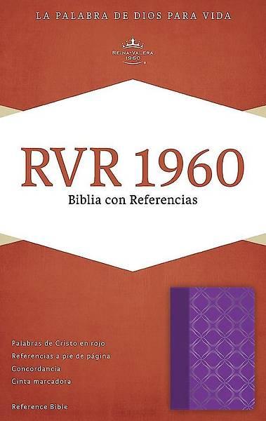 Picture of Rvr 1960 Biblia Con Referencias, Violeta Con Plateado Simil Piel
