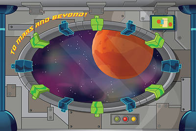 Vacation Bible School (VBS) To Mars and Beyond Decorating Mural