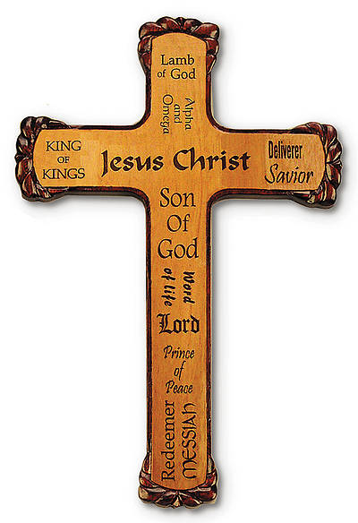 Picture of Cross Names of Jesus Wood
