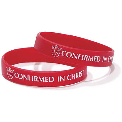 Confirmed in Christ Silicone Bracelet (Pack of 6)