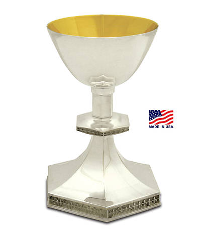The Creator's Star Silver-plated Chalice with Gold Lining