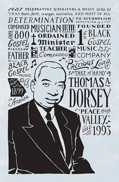 Picture of Thomas A. Dorsey Black History Month Regular Size Bulletin