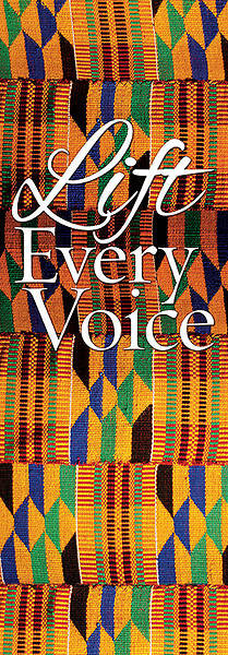 Kente Lift Every Voice Banner 2X6