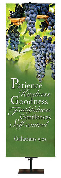 Patience, Kindness, Fruit of the Spirit Banner 18 x 5