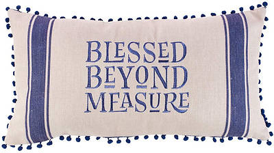 Picture of Blessed Beyond Measure Pillow, Oblong, Medium
