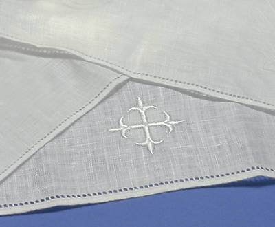 Baptismal Napkin Embroidered with a Greek Cross