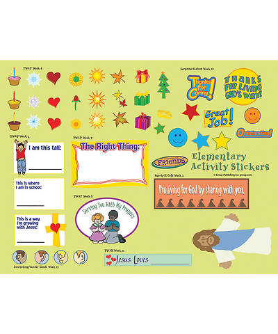 Picture of FaithWeaver Friends Elementary Activity Stickers (pkg 5) Spring 2019