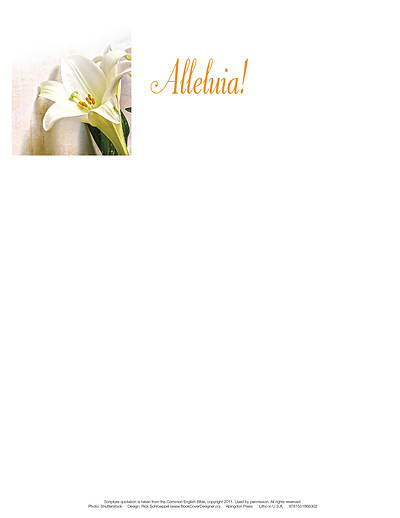 Picture of Alleluia! Easter Lilies Letterhead (Pkg of 50)