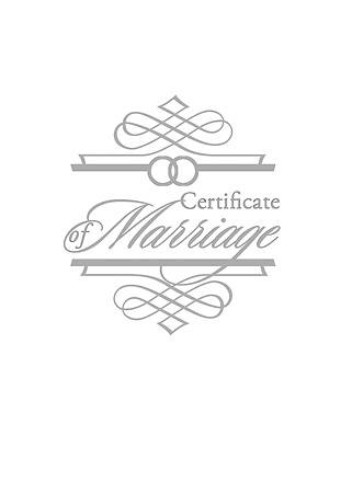 Marriage Booklet Certificate