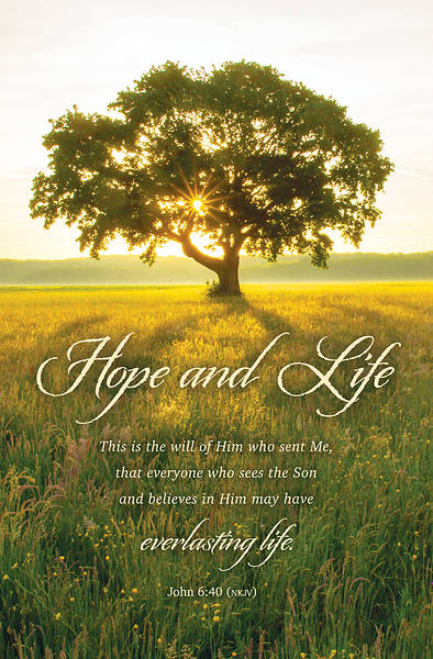 Picture of Hope and Life Funeral Regular Size Bulletin