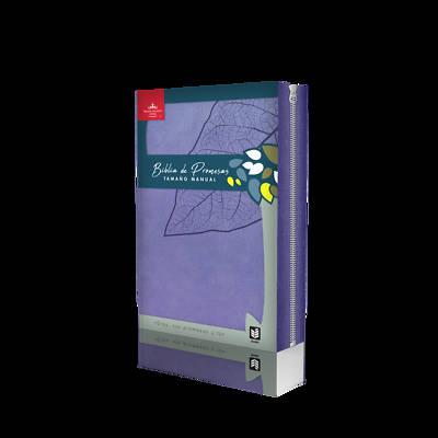 Picture of Biblia de Promesa Tamaño Manual / Piel Especial / Lavanda / Con Cierre E Indice