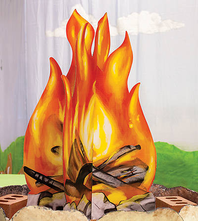 Vacation Bible School (VBS) 2017 Mighty Fortress Campfire Stand Up