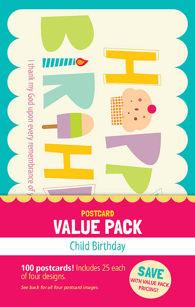 Picture of Happy Birthday Postcards - Child Value Pack - (Pk 100)