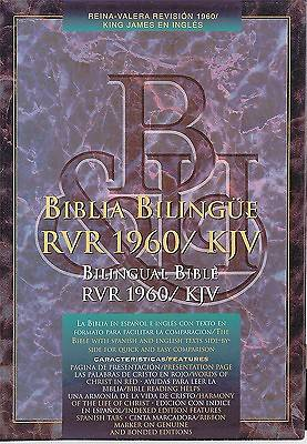 Bilingual Bible RVR 1960/KJV Imitation Leather Indexed