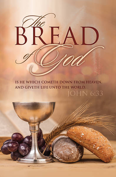 Picture of Bread of God Giveth Life Communion Regular Size Bulletin