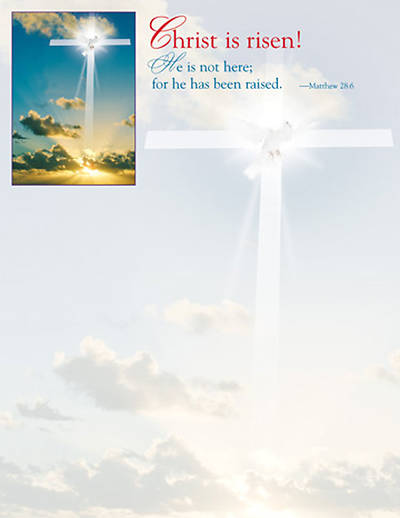 Picture of Christ the Lord is Risen! Sunrise Letterhead 2009, (Package of 50)