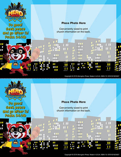 Vacation Bible School VBS Hero Central Follow-Up Photo Frames (Pkg of 48)