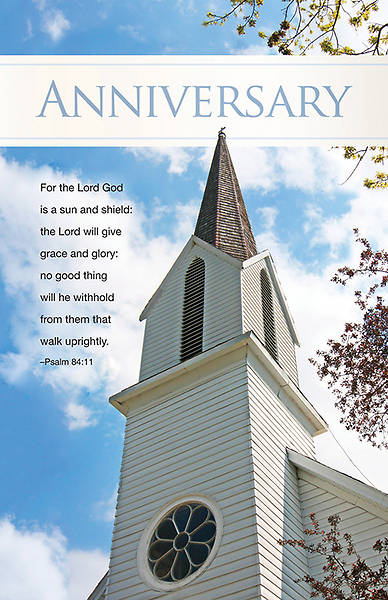 Church Anniversary Regular Size Bulletin