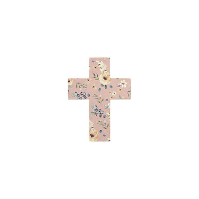 Picture of Mini Easel Floral Cross Pink With White Roses