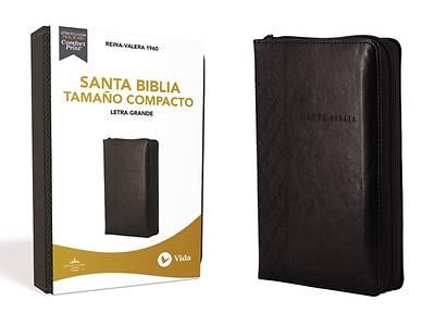 Picture of Rvr60 Santa Biblia, Letra Grande, Tamaño Compacto, Leathersoft, Negro, Edición Letra Roja