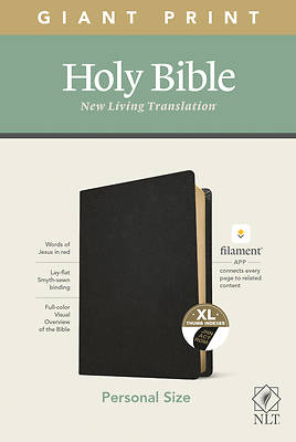 Picture of NLT Personal Size Giant Print Bible, Filament Enabled Edition (Red Letter, Genuine Leather, Black, Indexed)