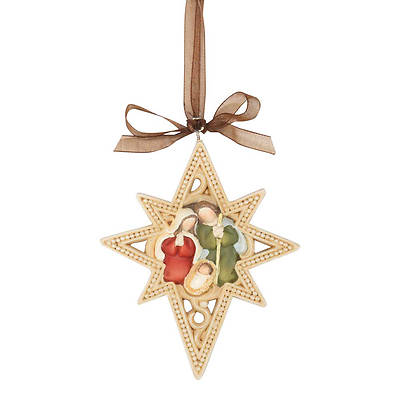 Holy Family Resin Star Ornament