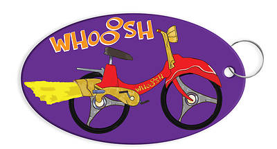 Vacation Bible School (VBS) 2019 WHOOOSH Bicycle Keychain (Pkg of 12)
