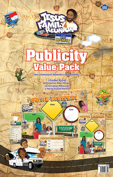 UMI VBS 2013 Jesus Family Reunion: The Remix Publicity Value Pack