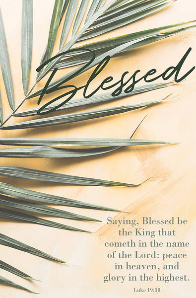 Picture of Blessed Be The King Palm Sunday Regular Size Bulletin