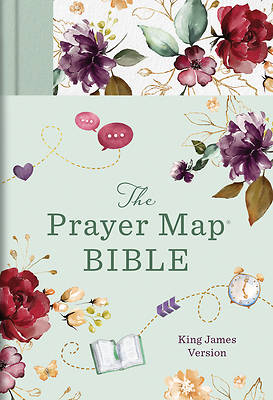 Picture of The KJV Prayer Map(r) Bible [Mint Blossoms]