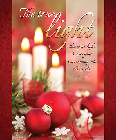 Picture of The True Light Christmas Legal Size Bulletin - Pack of 100